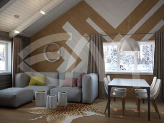 Гостевой дом: Гостиная в . Автор – Мастерская дизайна Екатерины Меркель,