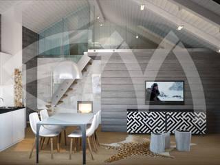 Гостевой дом: Столовые комнаты в . Автор – Мастерская дизайна Екатерины Меркель,