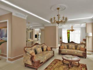 МАЛЕНЬКАЯ ИТАЛИЯ частный дом Гостиная в классическом стиле от Gordon-design Классический