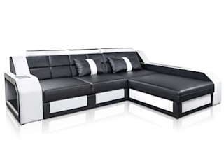 DIVANOVA Living roomSofas & armchairs Fake Leather Black