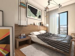 GEKADESIGN – Altıntepe Tunapark / İstanbul: modern tarz Yatak Odası