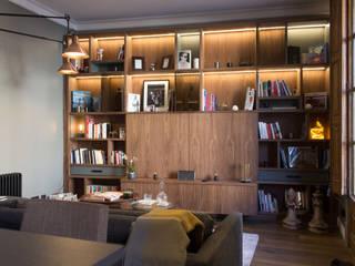 Letamendi -110m²-, Barcelona. Salones de estilo moderno de GokoStudio Moderno