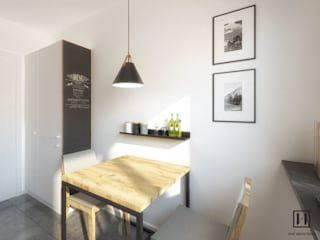 Niewielka kuchnia, Bieżanów-Prokocim / Kraków : styl , w kategorii Kuchnia zaprojektowany przez Huk Architekci