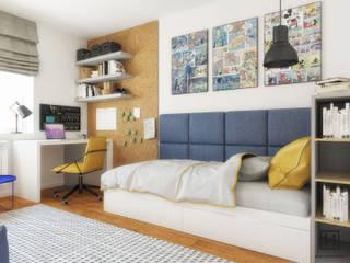 Pokój chłopca / Łańcut : styl , w kategorii Pokój dziecięcy zaprojektowany przez Huk Architekci