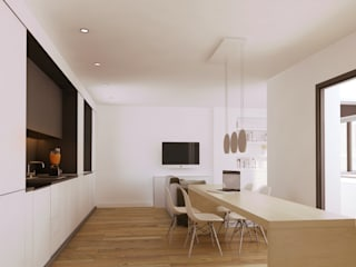 Casa Born -50 m²-, Barcelona. Salones de estilo moderno de GokoStudio Moderno