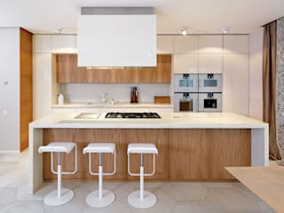 201505 – STONE AND WOOD ELM KITCHEN Modern Kitchen by TM Italia Modern
