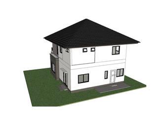 แบบบ้าน 2 ชั้น รัตนบุรี:   by รับเขียนแบบ