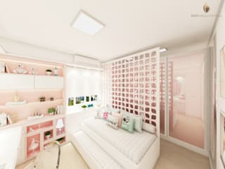 iost Arquitetura e Interiores Teen bedroom MDF Pink