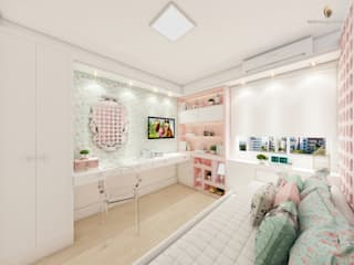 iost Arquitetura e Interiores Girls Bedroom MDF Pink