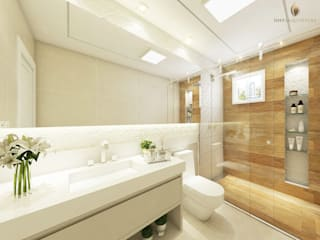 iost Arquitetura e Interiores Modern Bathroom Ceramic White