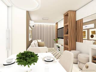 现代客厅設計點子、靈感 & 圖片 根據 iost arquitetura 現代風