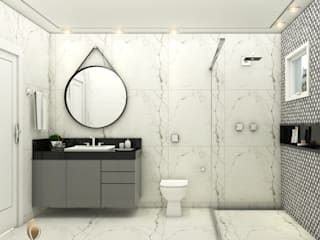 iost Arquitetura e Interiores Modern style bathrooms Granite Black