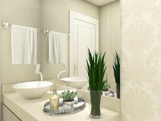 iost Arquitetura e Interiores Modern style bathrooms Granite Beige