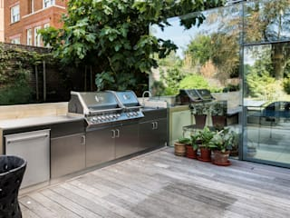 Outdoor Kitchen Minimalist kitchen by GEC Anderson Limited Minimalist