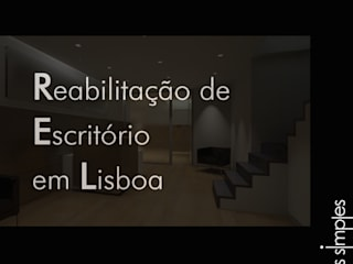 Linhas Simples Modern style study/office