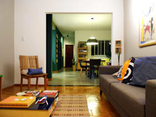 Casa AR: Salas de estar  por AJN arquitetura,Moderno