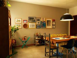 Casa AR: Salas de jantar  por AJN arquitetura,Moderno