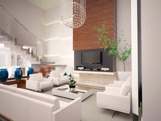 RESIDÊNCIA 01: Salas de estar  por Vinicius Miguel Arquitetura,Moderno