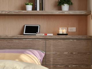 Dormitorios de estilo escandinavo de 舍子美學設計有限公司 Escandinavo