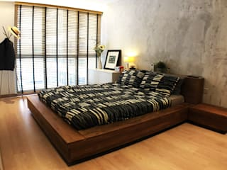master bedroom RSDS Architects Industrial style bedroom