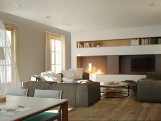 Balmes -240m²-, Barcelona. Sala de estar-Comedor.: Salones de estilo  de GokoStudio