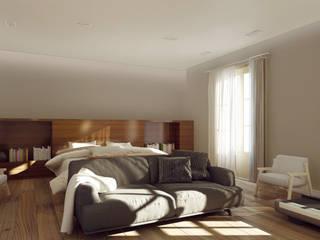 Balmes -240m²-, Barcelona. Habitación en suite.: Dormitorios de estilo  de GokoStudio