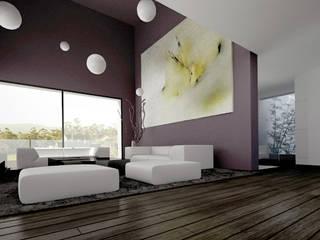 CASA VISUAL Salones de estilo moderno de EAU ARQUITECTURA S.L.P. Moderno