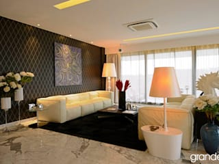 Villas Modern living room by Grandeur Interiors Modern
