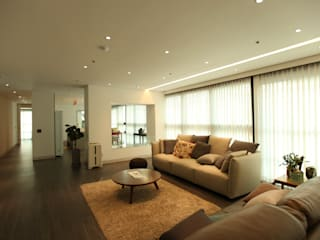 DONGBAEK HOUSING 주거 전체 리모델링 : atelierBASEMENT의  거실