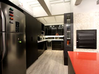 Jean Felix Arquitetura Minimalist kitchen MDF Black