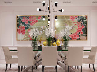 Eclectic style dining room by VERONIKASTUDIO Eclectic