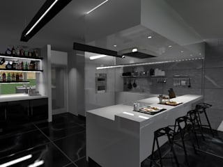 Cocinas de estilo minimalista de Diseño de Locales Minimalista