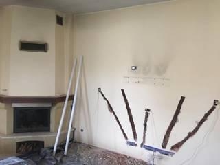 Efekt betonu ściana przed: styl , w kategorii  zaprojektowany przez Veldecor