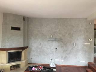 Efekt betonowej ściany: styl , w kategorii  zaprojektowany przez Veldecor