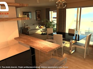 VALLON D'OR - Luxury Condo France Cocinas modernas de JEREMY TRON DESIGN - Evolution Architecture, Design & Communication Studio Moderno