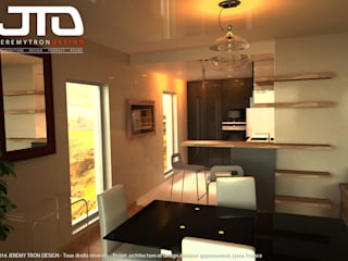 VALLON D'OR - Luxury Condo France Comedores modernos de JEREMY TRON DESIGN - Evolution Architecture, Design & Communication Studio Moderno