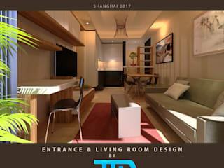SHANGHAI CONDO INTERIOR DESIGN Salones modernos de JEREMY TRON DESIGN - Evolution Architecture, Design & Communication Studio Moderno