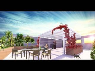 Terraza PHII : Terrazas de estilo  por 2M arquitectos