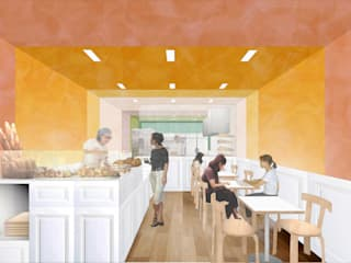 Bakery H: 平野崇建築設計事務所 TAKASHI HIRANO ARCHITECTSが手掛けたレストランです。