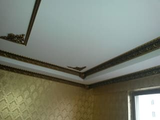 osmanli saray tavan – osmanli saray tavan 88023-sf 13 cm eskitme patina kartonpiyer ve 7308-sf kose sus parcalari, kartonpiyer ic kose parcasi 7005-sf uygulama resimleri ve altin varakli gold duvar kagidi kombinasyonu.:  tarz