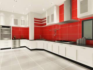 Kitchen 3D Design #1:  ห้องครัว by SIAMTAK CO., LTD.
