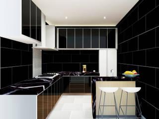 Kitchen 3D Design #6:  ห้องครัว by SIAMTAK CO., LTD.