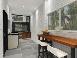 Kitchen 3D Design #16:  ห้องครัว by SIAMTAK CO., LTD.