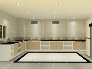 Kitchen 3D Design #17:  ห้องครัว by SIAMTAK CO., LTD.