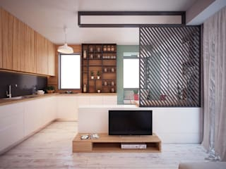 Hang Hau Residential Project:  Living room by CLOUD9 DESIGN