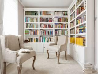 Biblioteka: styl , w kategorii Domowe biuro i gabinet zaprojektowany przez Aleksandra Kurowska
