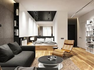 Quarry Bay Residential:  Living room by CLOUD9 DESIGN