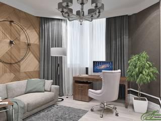 Bureau moderne par Компания архитекторов Латышевых 'Мечты сбываются' Moderne