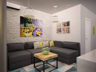 Двухкомнатная в п. Комунрака: Гостиная в . Автор – дизайн-бюро ARTTUNDRA