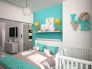 Двухкомнатная в п. Комунрака: Спальни в . Автор – дизайн-бюро ARTTUNDRA
